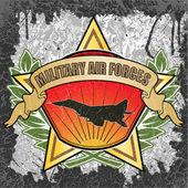 Askeri hava kuvvetleri sembolü — Stok Vektör