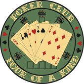Symbol club poker — Vector de stock