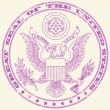 Great seal of the United States stamp — Cтоковый вектор