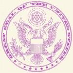 Great seal USA stämpel — Stockvektor