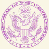 Great seal of the United States stamp — Stock Vector