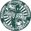 Stock Vector: Danger sounds stamp