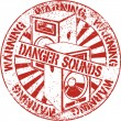 Постер, плакат: Danger sounds stamp
