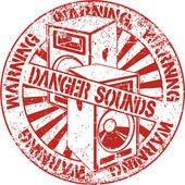 Danger sounds stamp — Stock Vector