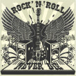 Stock Vector: Rock n Roll never die