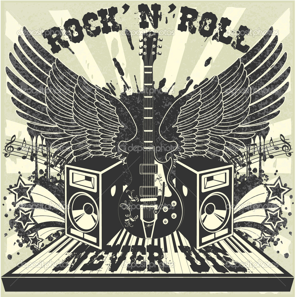 The vector image of Rock n Roll never die  Stock Vector #6278603