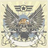Emblema militare — Vettoriale Stock