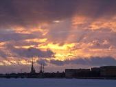 Sunset in Saint-Petersburg — Stock Photo