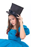 The girl in the topper — Stock Photo