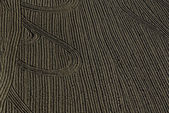 Field with Furrows And Tracks — 图库照片