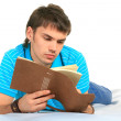 Student and notebook. — Stock Photo