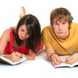 Two students. Closeup. — Stock Photo