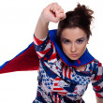 Superwoman. — Stock Photo