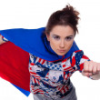 Stock Photo: Superwoman.