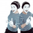 Clone mimes. — Stock Photo