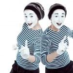Clone mimes. — Stock Photo