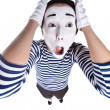 Street mime. — Stock Photo