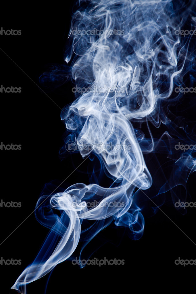 Tobacco smoke. On black background. — Stock Photo #6373372