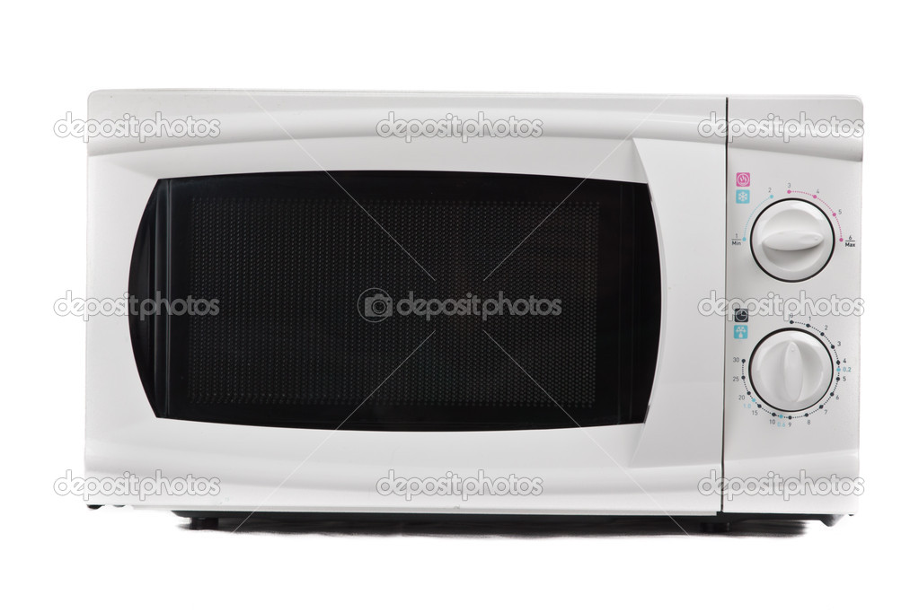 Microwave oven. Isolated on white. — Stock Photo #6373513