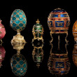 Stock Photo: Group Faberge eggs.