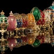 Group Faberge eggs. - Stock Photo