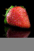 Juicy strawberries - close-up. — Stock Photo