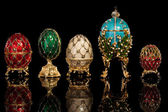Group Faberge eggs. — Stock Photo