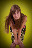 Beautiful lady. Vignette. — Stock Photo