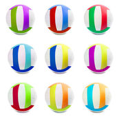 Colorful Sports Balls color in different countries — Stock Photo