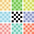 Stock Vector: Checkered backgrounds 2