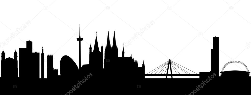 Cologne Silhouette black abstract  Stock Vector #5454562