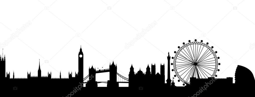 伦敦剪影抽象 — 图库矢量图像08