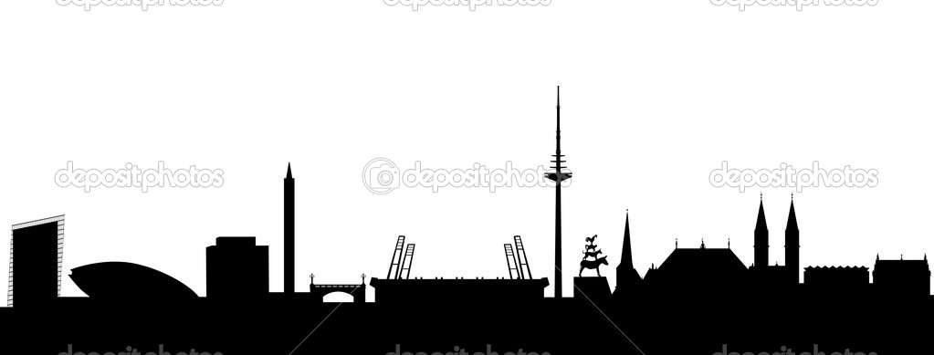 Bremen Silhouette black — Stock Vector #5454584