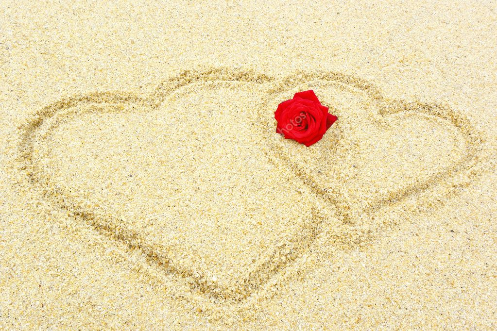 Two hearts in the sand — Stock Photo © HS-Photos #5613701