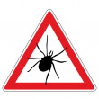Tick warning sign — Stock Vector