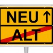 Sign Alt/Neu in German Words — Stock Vector