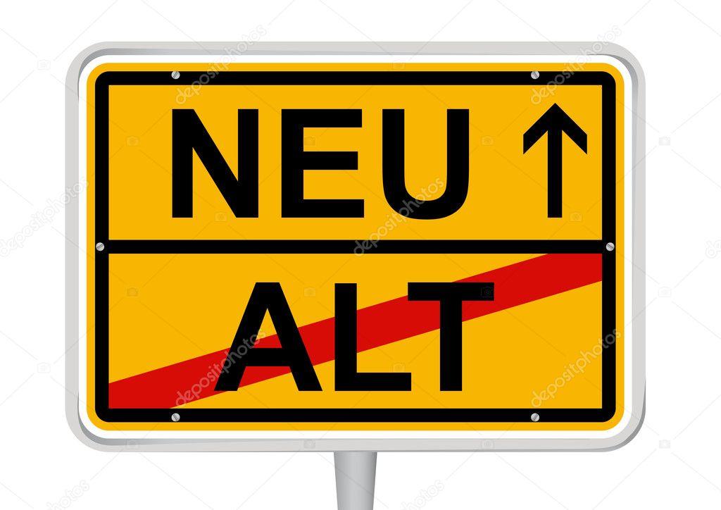 Alt/Neu in deutschen Wörtern zu unterzeichnen ...