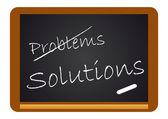Calkboard Problems/Solutions — Stock Vector