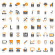 Vettoriale Stock : Web icons orange