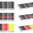 Various Bar Codes — Stock Vector