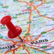 Stock Photo: Paris with pin