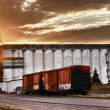 Stock Photo: Grain Terminal at Sunrise
