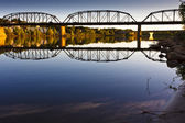Reflection on the calm river — Stock Photo