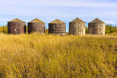 Wooden Grain Storage Bins — Stock Photo