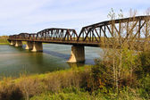 Old Bridge over the River — Stock Photo