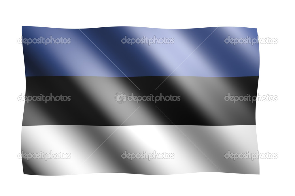 National estonian flag on white background — Stock Photo #5466407