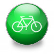 Green bicycle button - Stock Photo