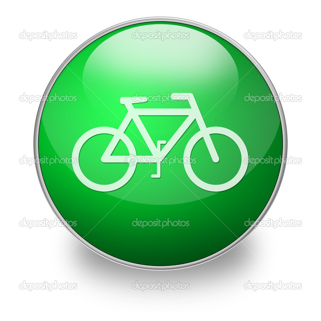 Bicycle web button — Stock Photo #5616020