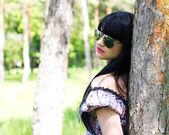 美しい女性のサングラス — ストック写真