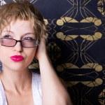 Sexy woman wearing glasses — Stock Photo